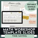 Math Workshop Slide Templates