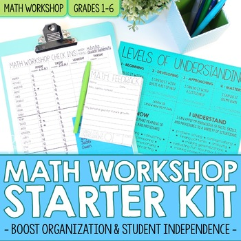 Math Workshop Starter Kit - Organization Tools for Math Rotations
