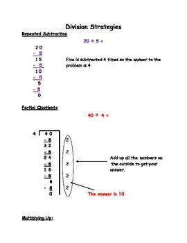 Math Workshop Strategy Packet