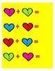 Math Workshop Valentine Addition File Folder Game
