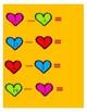 Math Workshop Valentine Subtraction File Folder Game