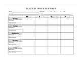 Math Workshop Weekly Planner