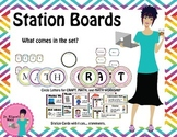 Math Workshop and Craft Posters