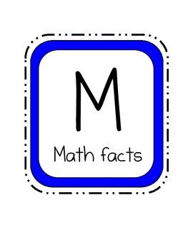 Math Workshop bulletin board
