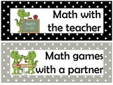 Math Workshop headings