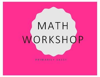 Math Workshop station set up
