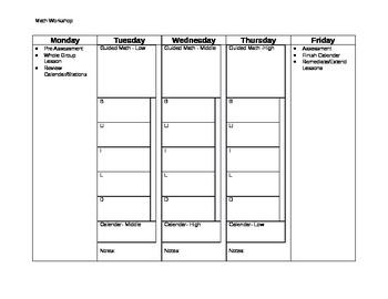 "Math ""Workshop""/Guided Math Template"