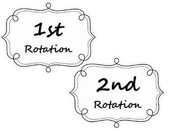 Math Workshops Banner and Rotation Labels