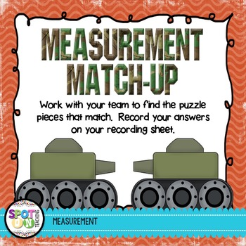 Measurement Match Up {Math Workstation}