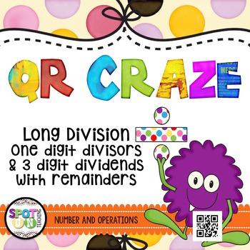 Long Division QR CRAZE {Math Workstation}