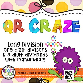 Long Division QR CRAZE {Math Workstation}