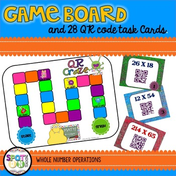 Multi-Digit Multiplication QR CRAZE {Math Workstation}
