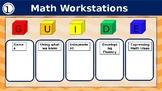 Math Workstation Rotation Board {EDITABLE}
