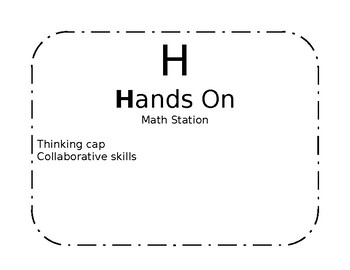 Math Workstation Rotation Signs
