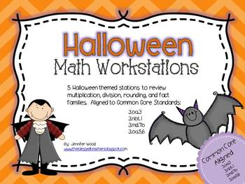 Math Workstations.....Halloween Themed