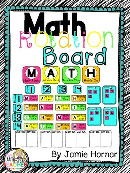 Math Worshop Rotations Board - Bright Colors