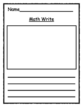 Math Center - Writing math {FREEBIE}