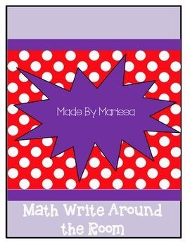 Math Write Around the Room
