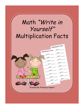 """Math """"Write In Yourself"""" Multiplication Facts"""