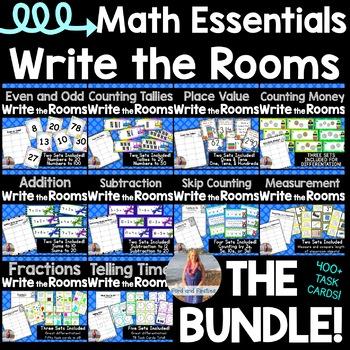Math Write Room BUNDLE!! [[10 Topics, 400+ task cards]]