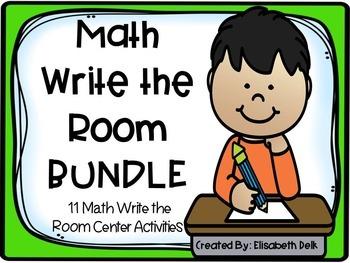 Math Write the Room Acitivies: The Bundle