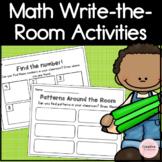 No Prep Math Write-the-Room Activities for Kindergarten
