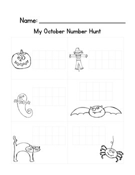 Math Write the Room: October Themed
