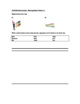 Math Writing ACCESS mock question