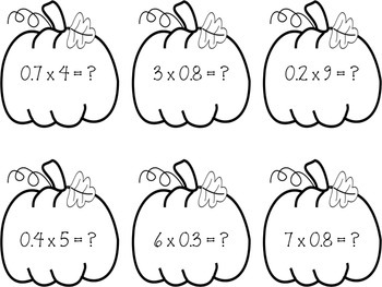 Math Writing Center Multiplying Decimals by Whole Numbers-#PumpkinProblems