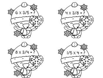 Math Writing Center: Multiplying Fractions - #PenguinProblems