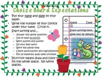 Math Writing Choice Board (May)