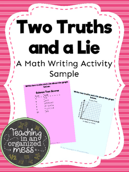 Math Writing FREEBIE- Two Truths and a Lie
