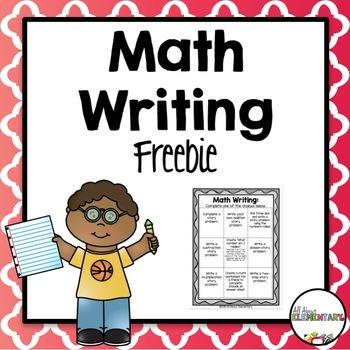 Math Writing Freebie