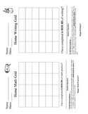 Math & Writing Grid - Homework Tracking