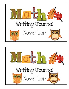 Math Writing Journal November