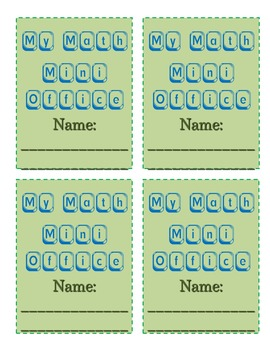 Math & Writing Mini-Office/Notebook Resource for Upper Elem Mega Pack