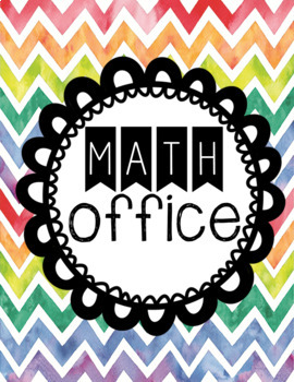 Math & Writing Office Resource pages **great for SPED**