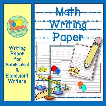 Writing Paper Math