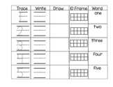 Math Writing Practice Numbers 1-10