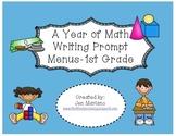 Math Writing Prompt Menus-First Grade