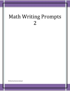 Math Writing Prompts 2