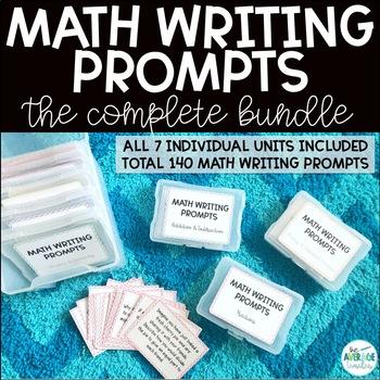 Math Writing Prompts BUNDLE