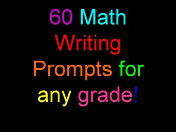 Math Writing Prompts For Students