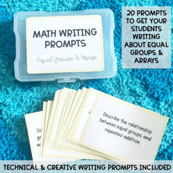 Math Writing Prompts: Unit 4 - Equal Groups and Arrays