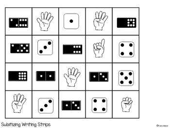 Math Writing Strips