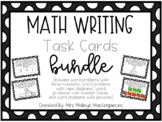 Daily 3 Math Writing Task Cards BUNDLE {{EDITABLE}}
