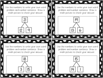 Daily 3 Math Writing Task Cards: Word Problems with Number Bonds