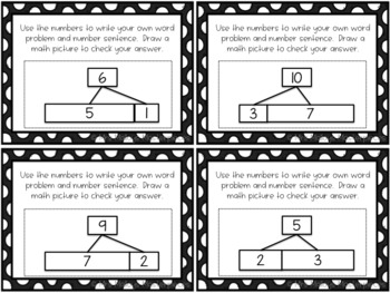Daily 3 Math Writing Task Cards: Word Problems with Tape Diagrams