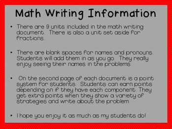 Math Writing Daily 3 (Word Problems)