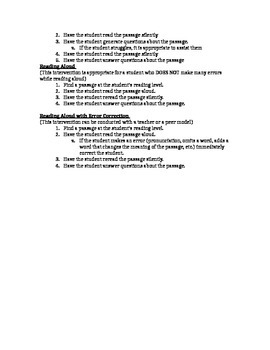 Math, Writing, and Reading Intervention List